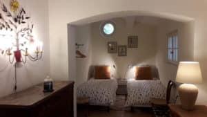 location villa provence - chambre